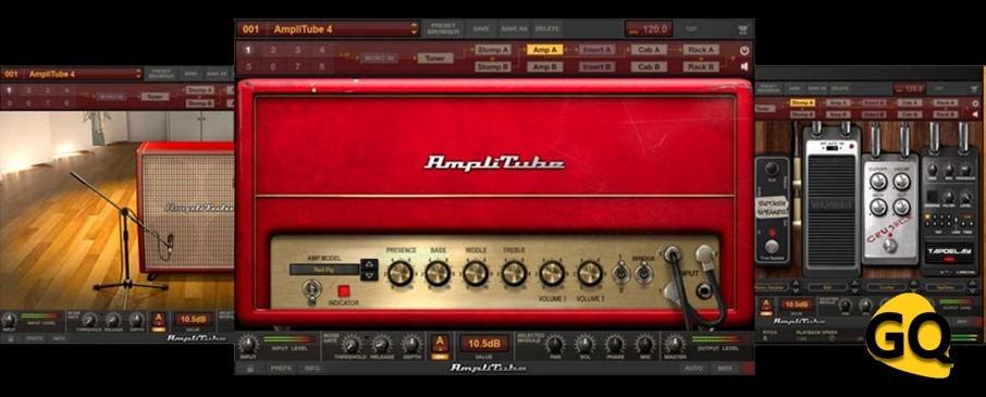 IK Multimedia AmpliTube 4, einer der beliebtesten Gitarrenverstärker-Simulator VST Plugins.