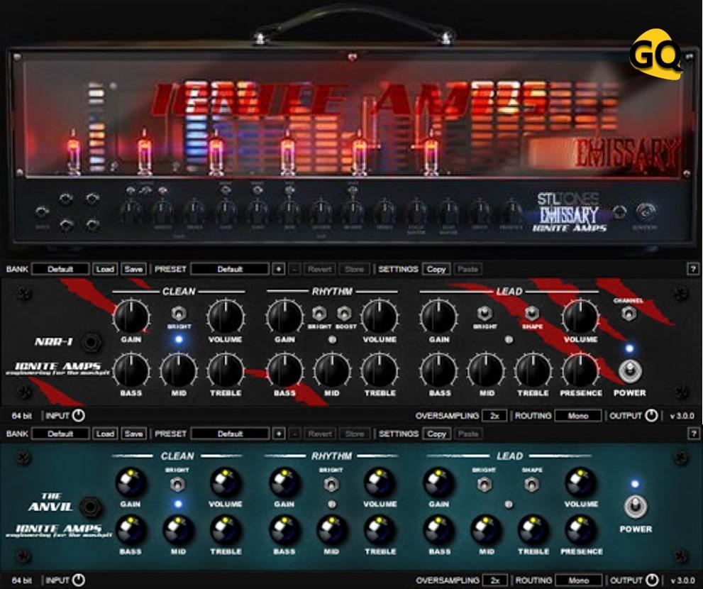 Ignite Amps Emissary, The Anvil, NRR-1, drei der besten kostenlosen Gitarren-Amp-Simulatoren VST-Plugins.