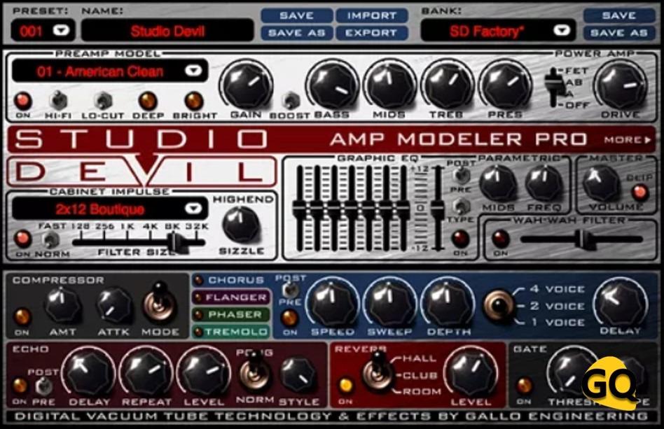 Studio Devil Amp Modeler Pro, virtuelle Gitarre Amp VST Plugin.