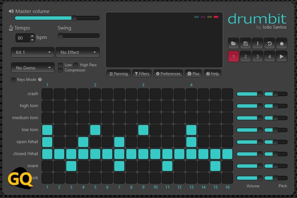 드럼 비트 온라인 드럼 머신