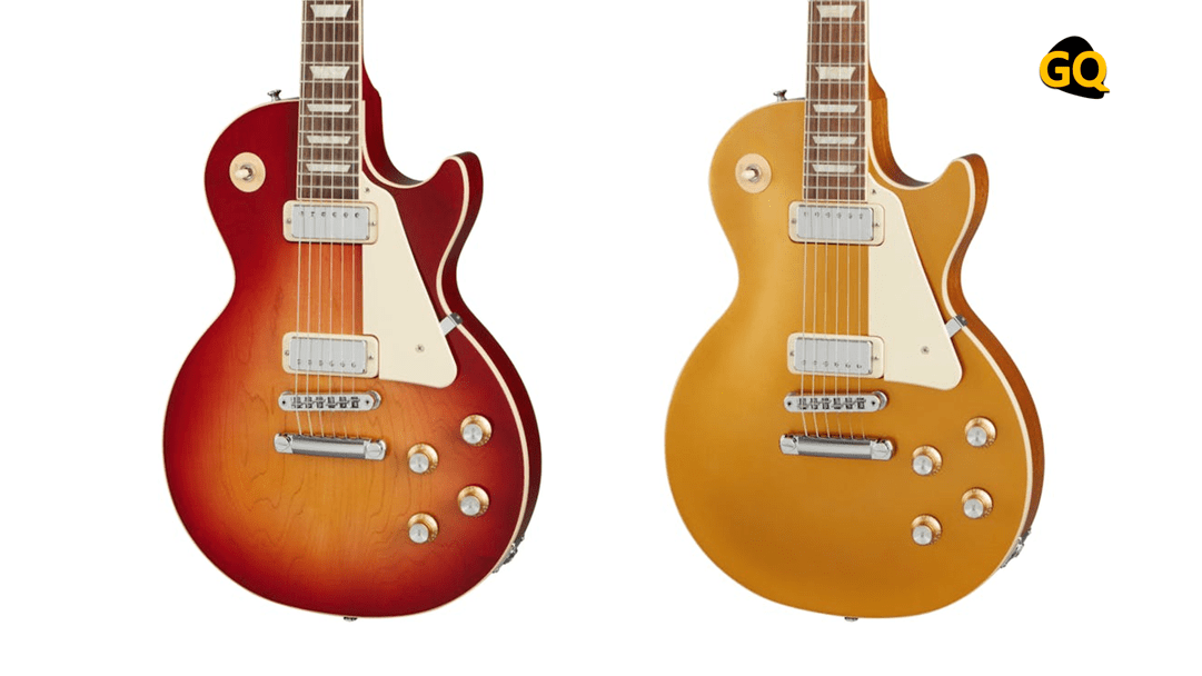 Gibson Les Paul 70s Deluxe Cherry Sunburst y Gold Top