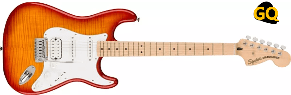 Squier Affinity Series Stratocaster HSS flamed maple top.