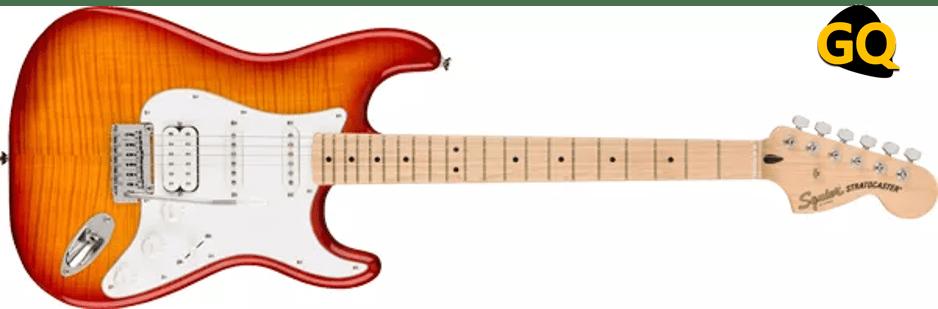 Squier Affinity Series Stratocaster HSS tapa de arce flameado.