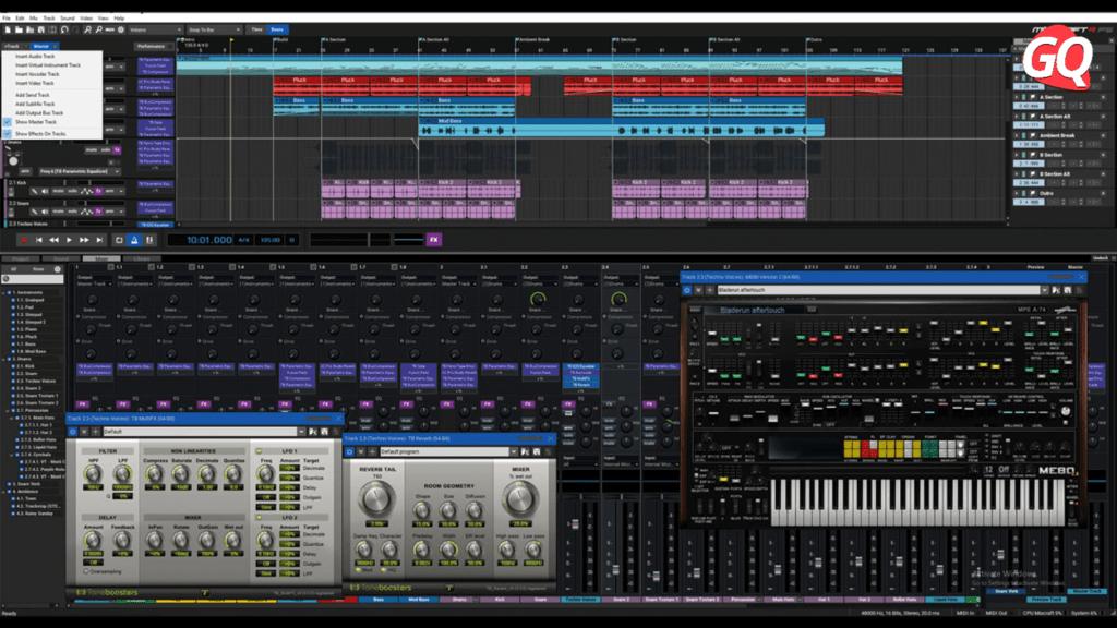 Acoustica Mixcraft 9 Recording Studio, uno de los mejores DAW para usuarios de PC Windows.