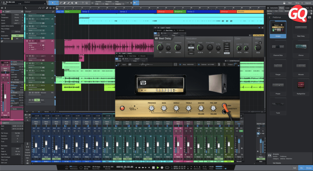 Presonus Studio One 5 Prime or Artist, one of the best DAW options for your Home Studio.
