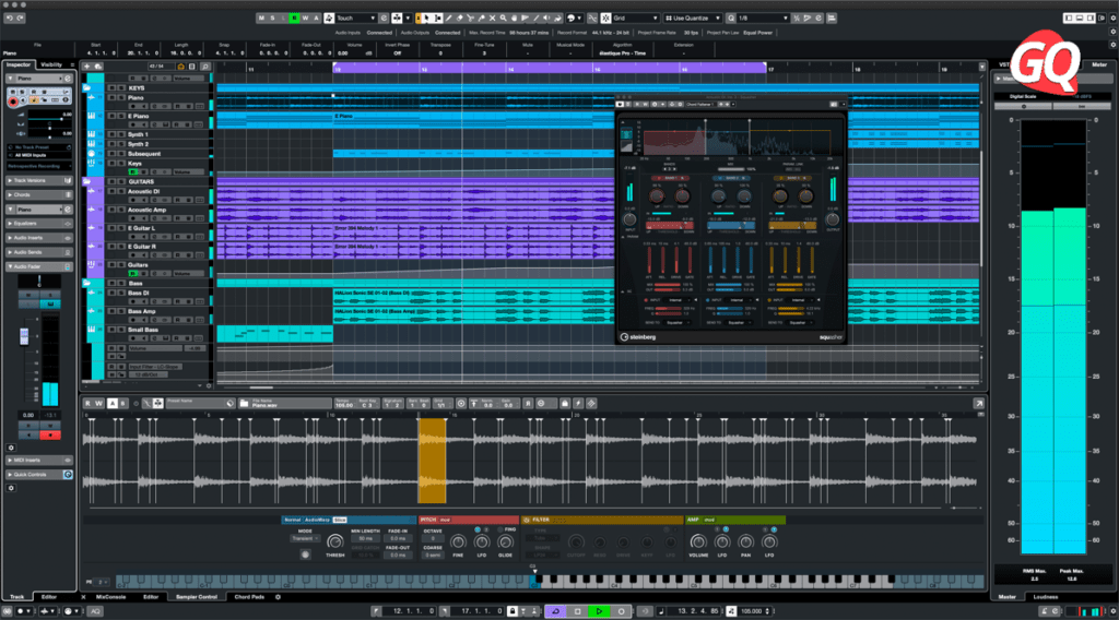 Steinberg Cubase Elements 11, one of the most popular DAWs.