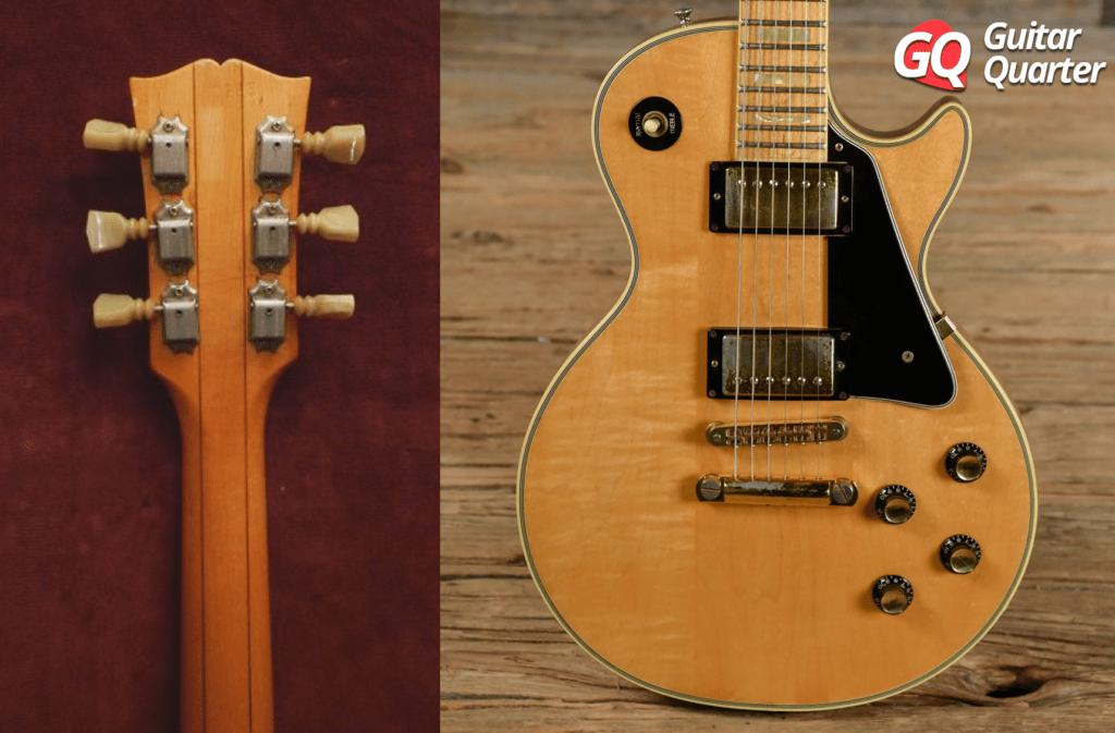 Mango y tapa de tres piezas de arce de Gibson Les Paul Norlin 70s.