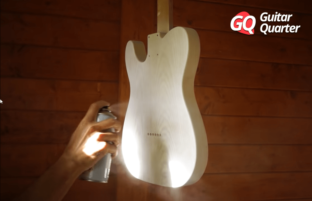 How To Finish With Nitrocellulose Spray Lacquer On Your Guitar.