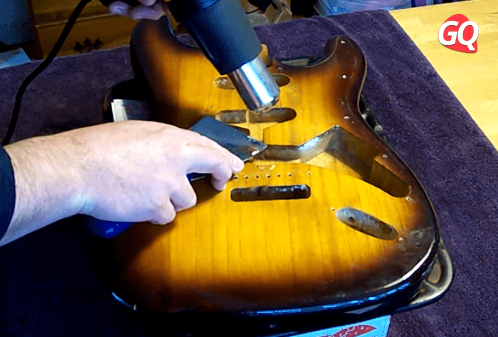 How to Finish a Guitar with a Heat Gun and Spatula.