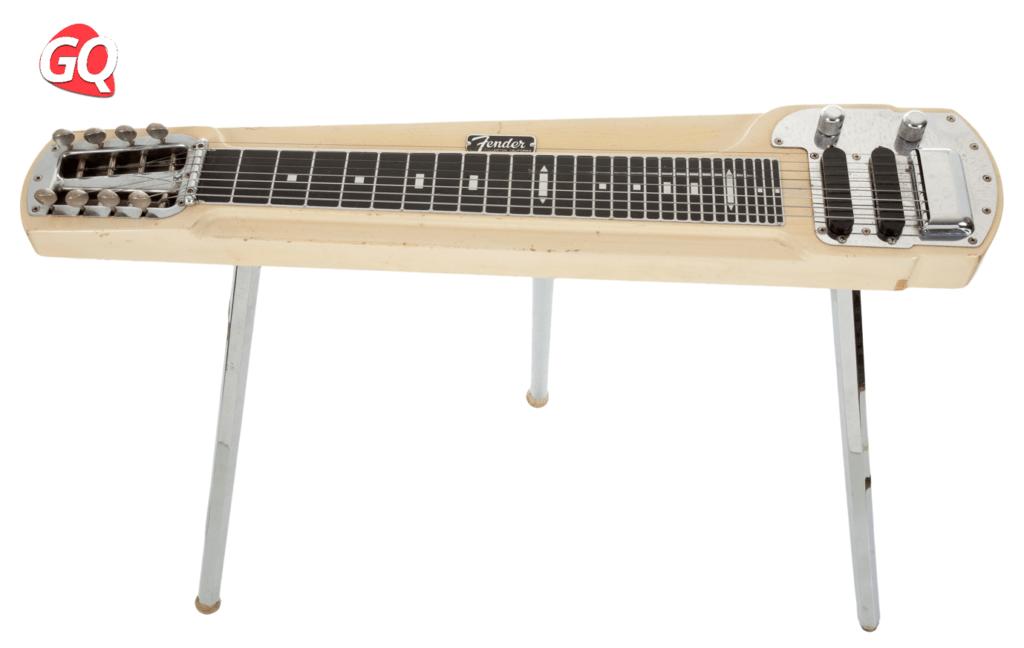 Algunas Lap Steel Guitars vienen con patas para mayor comodidad.
