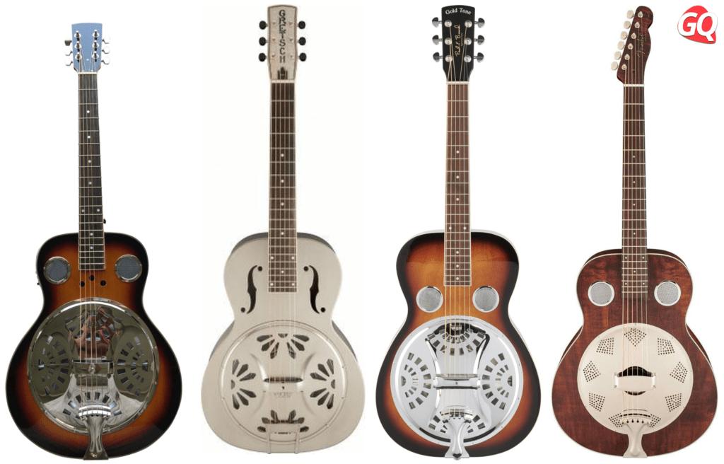 Resonador: son guitarras acústicas con un cono de metal en el cuerpo de la guitarra donde se apoya el puente.