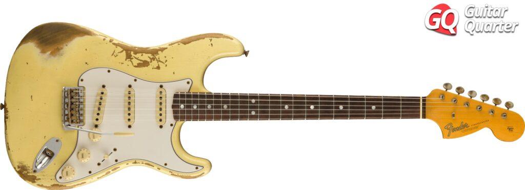 Fender Stratocaster Custom Shop 1967 con clavijero grande, típico de los años CBS.
