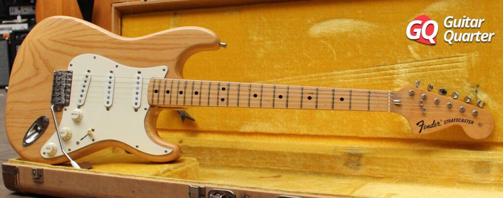 Fender Stratocaster 1972 Vintage de Fresno con acabado natural.