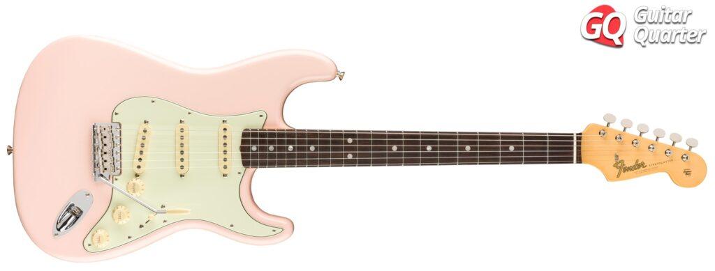 Fender Stratocaster American Original 60's: Cuerpo de aliso y diapasón de palisandro, en acabado Shell Pink.